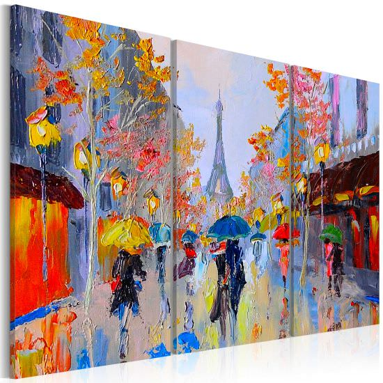 Handmade painting Rainy Paris