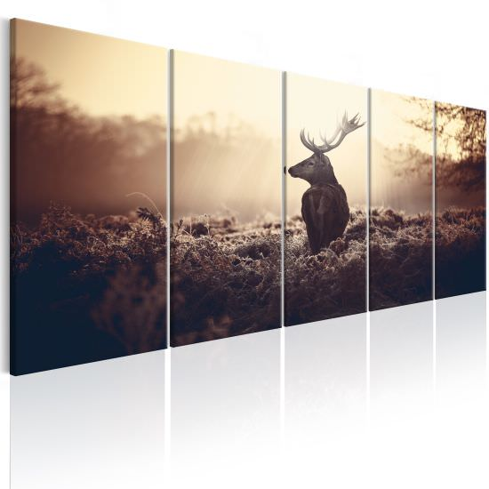 Canvas Print Stag in the Wilderness