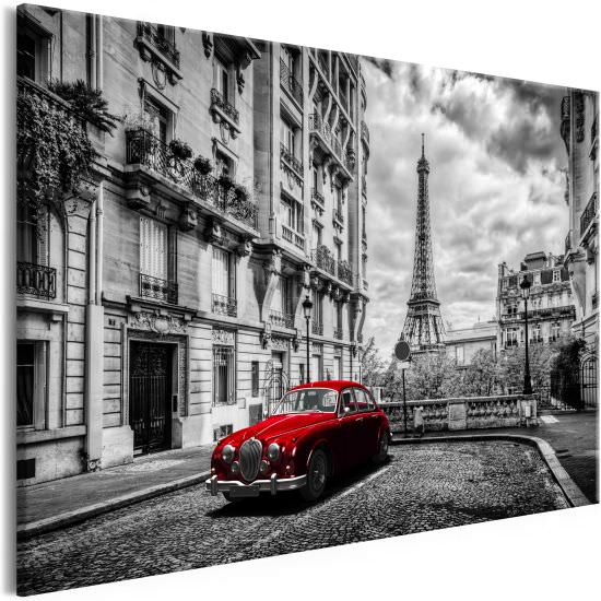 Quadro Car in Paris 1 Part Red Wide