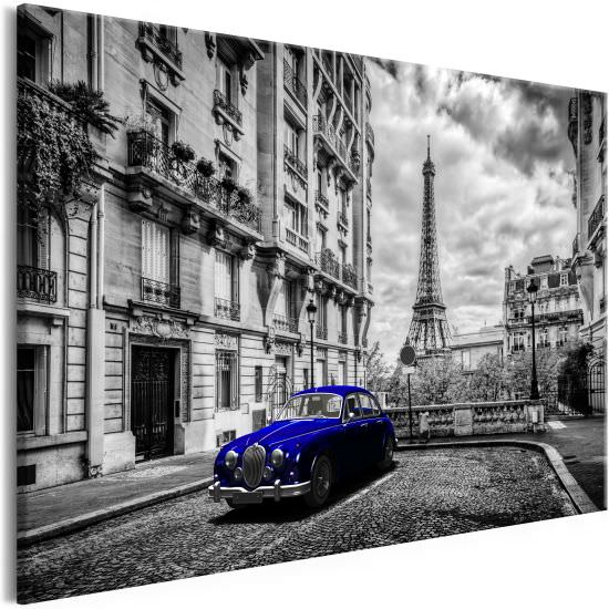 Quadro Car in Paris 1 Part Blue Wide