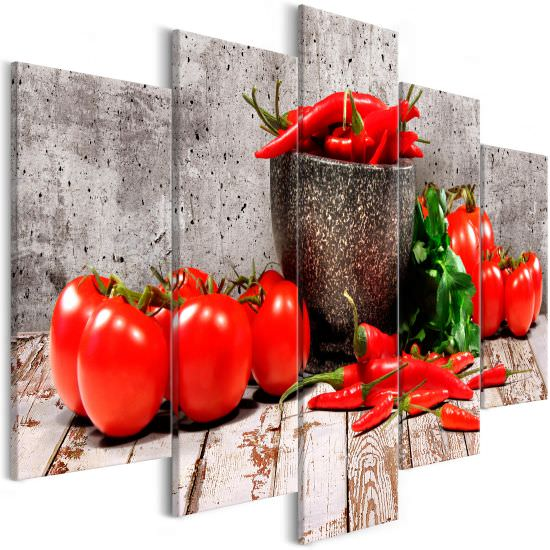 Tableau Red Vegetables 5 Parts Conc