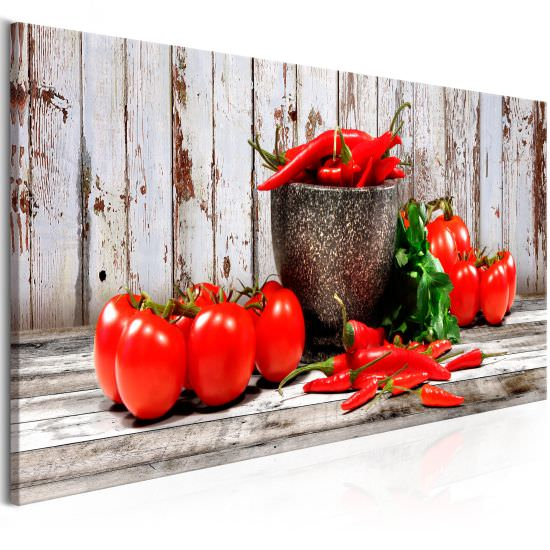 Tableau Red Vegetables 1 Part Wood
