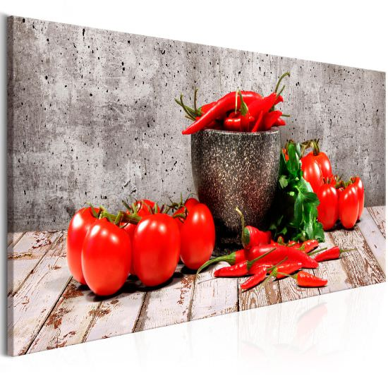 Tableau Red Vegetables 1 Part Concr