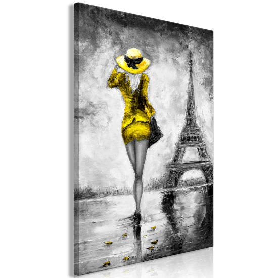 Quadro Parisian Woman 1 Part Vertical Ye