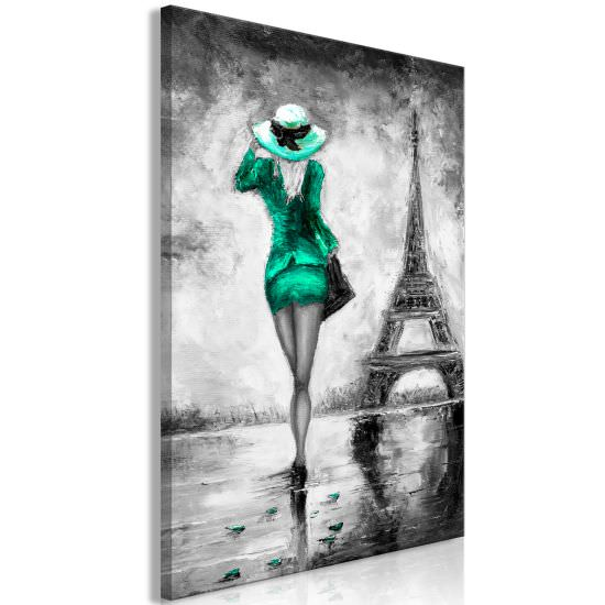 Quadro Parisian Woman 1 Part Vertical Gr