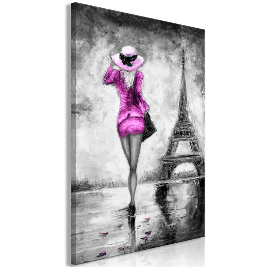 Quadro Parisian Woman 1 Part Vertical Pi