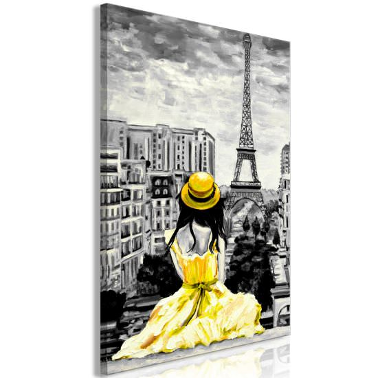 Quadro Paris Colour 1 Part Vertical Yell