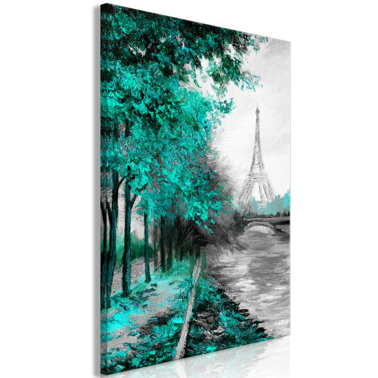 Quadro Paris Channel 1 Part Vertical Gre