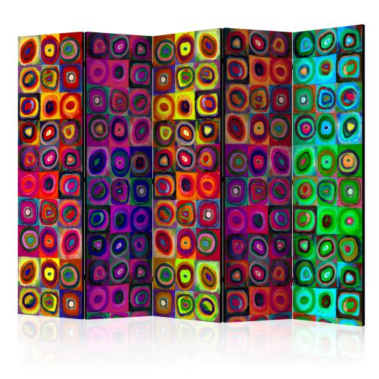 Paravento Colorful Abstract Art II Room