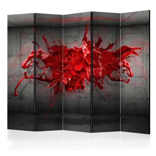 Room Divider Red Ink Blot II [Room Di