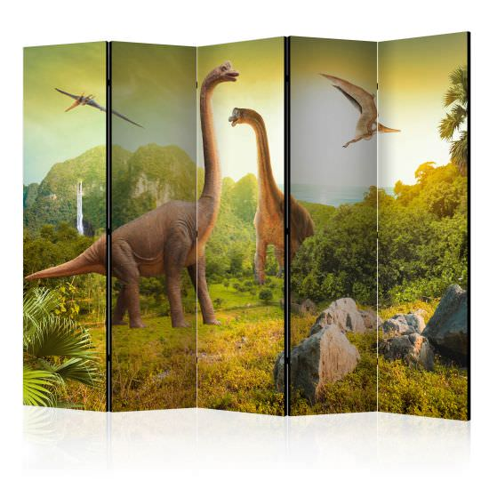 5teiliges Paravent Dinosaurs II Roo