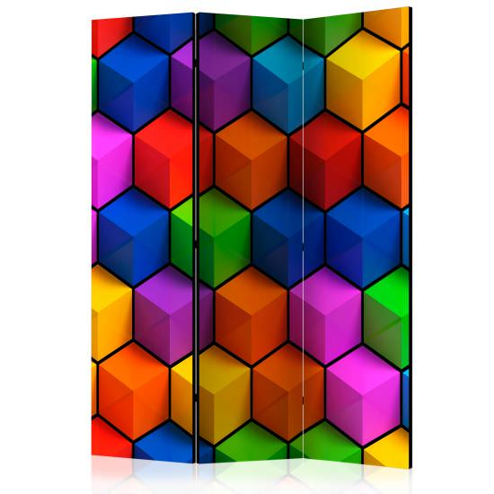 Room Divider Colorful Geometric Boxes