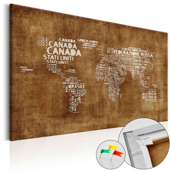 Korkbild The Lost Map Cork Map Ita
