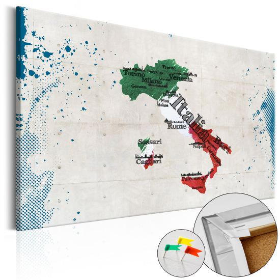 Decorative Pinboard Italy [Cork Map]