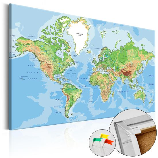 Tablero de corcho World Geography Co