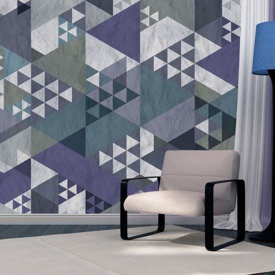 Wallpaper Blue patchwork