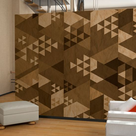 Wallpaper Brown patchwork