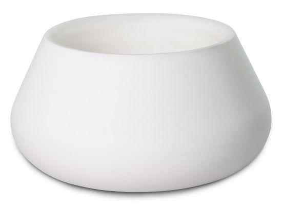 Low vase Conca Lullaby White