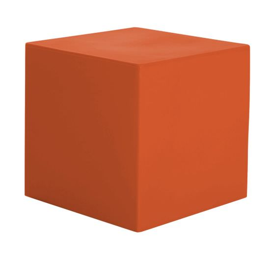 Resina cubo 41 cm color Naranja