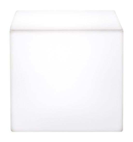 Cubo luminoso in Resina 41 cm Bianco