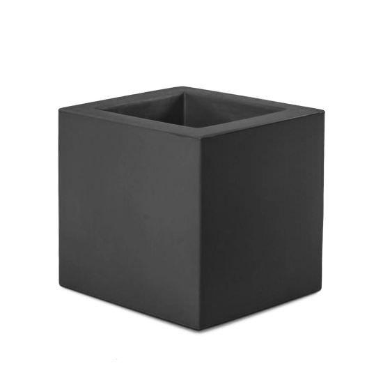 Vase carré en résine 41 cm pour l'extéri
