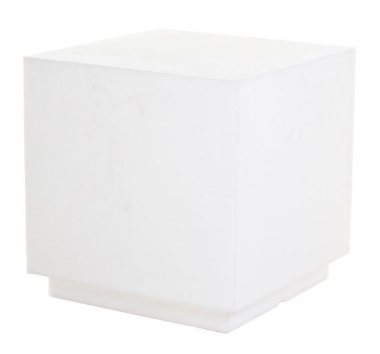 Cubo luminoso in Resina 55 cm Bianco