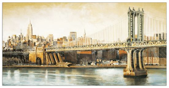 Quadro Decorativo Manhattan Bridge View