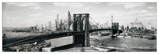 Quadro Decorativo The Brooklyn Bridge Nyc 1938