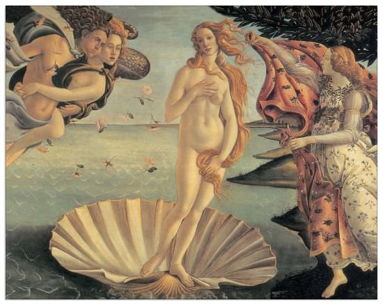 Quadro Decorativo Birth Of Venus