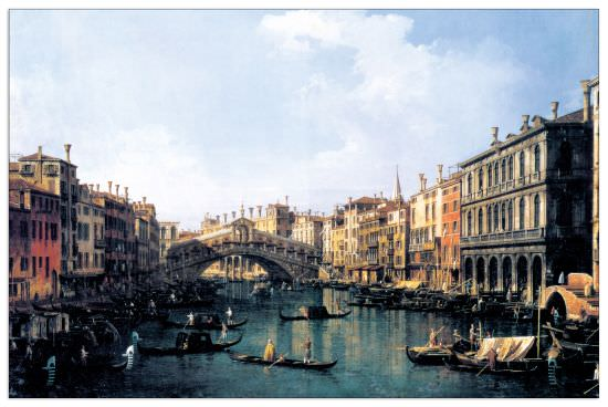 Quadro Decorativo Rialto Bridge