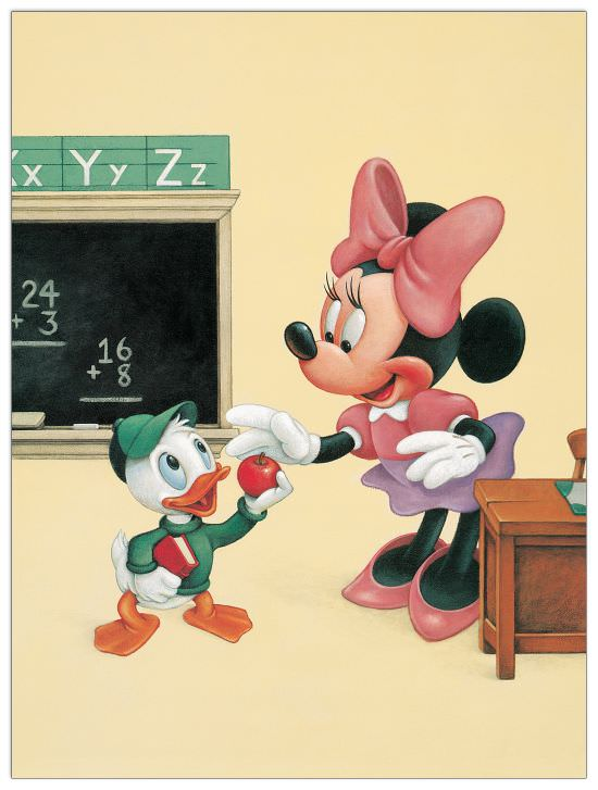 Quadro Decorativo An Apple For Minnie