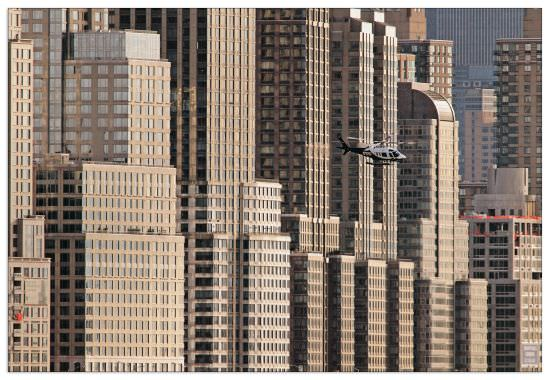 Quadro Decorativo New York Helicopter