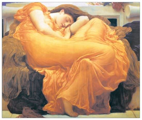 Quadro Decorativo Flaming June