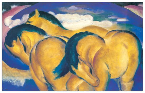 Quadro Decorativo Little Yellow Horses
