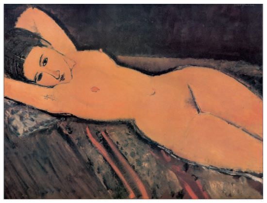 Quadro Decorativo Reclining Nude
