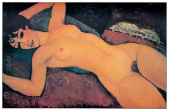 Quadro Decorativo Reclining Nude With