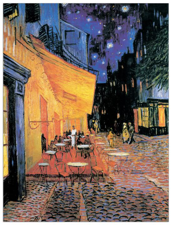 Quadro Decorativo Cafe Terrace At Night 1888