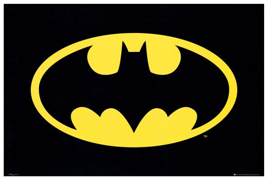 Quadro Decorativo Bat Man Logo