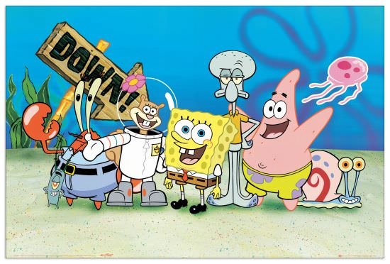 Quadro Decorativo Spongebob
