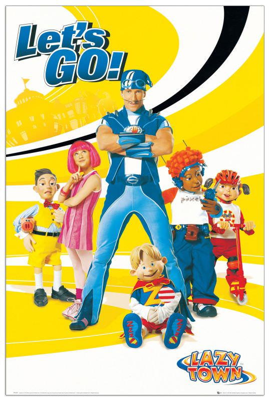 Quadro Decorativo Lazy Town