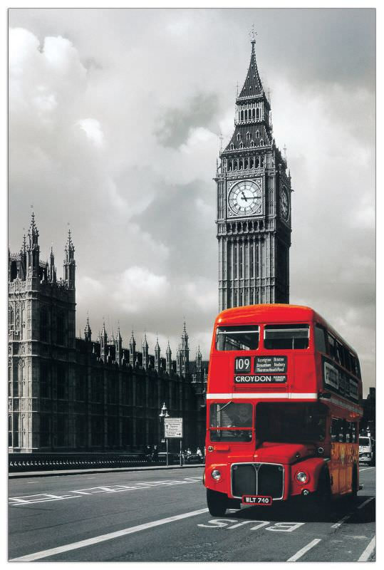 Quadro Decorativo Bus Westminster