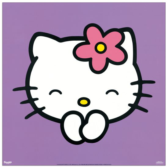 Quadro Decorativo Hello Kitty Purple