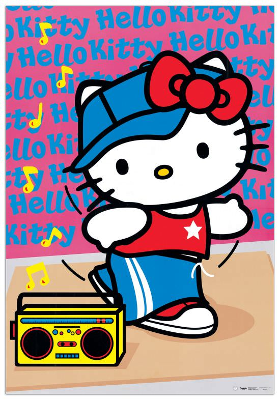 Quadro Decorativo Hello Kitty