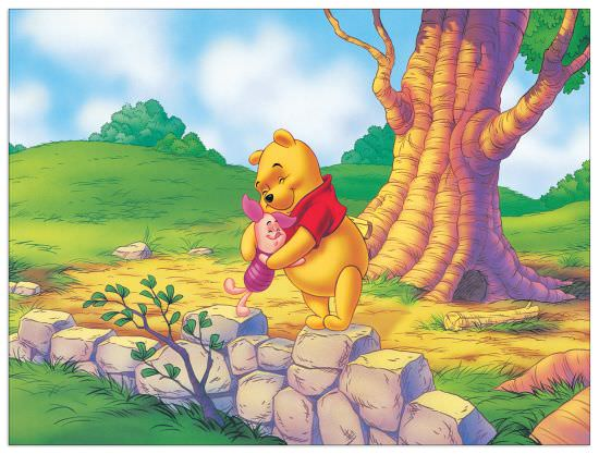 Quadro Decorativo A Hug From Pooh