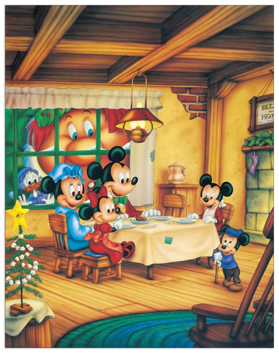 Quadro Decorativo Mickey Christmas Carol