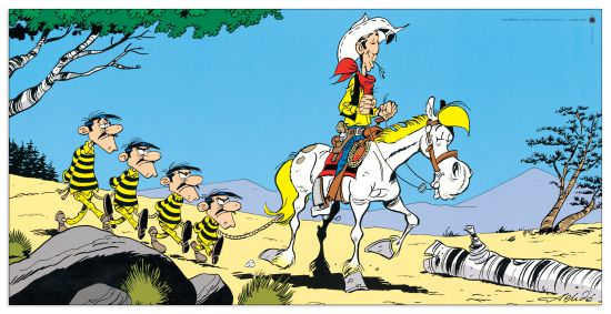 Quadro Decorativo Lucky Luke E Les Daltons