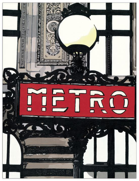Quadro Decorativo Metro In Paris