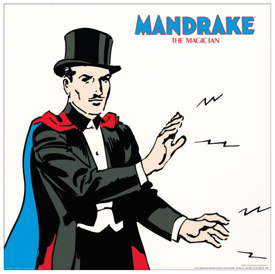 Quadro Decorativo Mandrake The Magician Ii