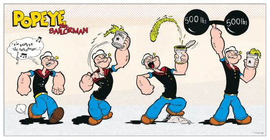 Quadro Decorativo Popeye Eats Spinach