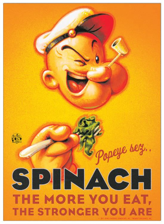 Quadro Decorativo Popeye Spinach